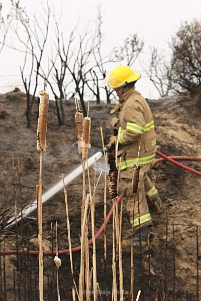 Dan making sure fire is out - Fallon/Churchill Fire Department