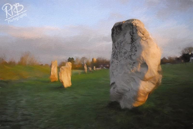 Avebury Stones Watercolour - Digital Paintings
