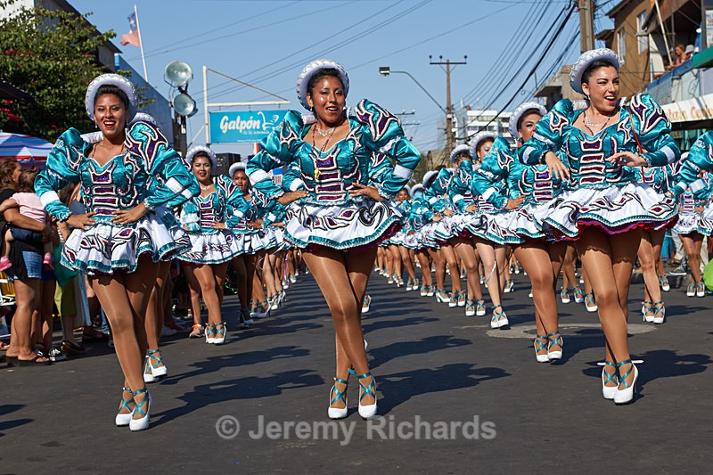 Female members of a Caporales dance group - Carnaval Andino Con La Fuerza Del Sol - Arica