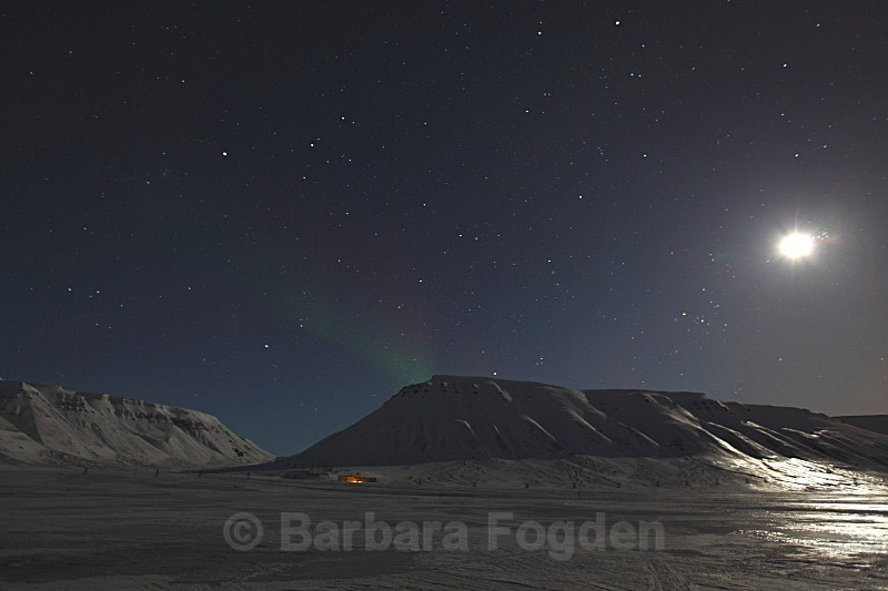 Adventdalen with the Northern light 9451 - Polar night