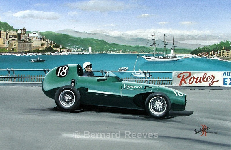 Stirling Moss Monaco 1957 in the Vanwall - Classic cars