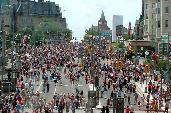 Canada Day - Wellington Street - Summer