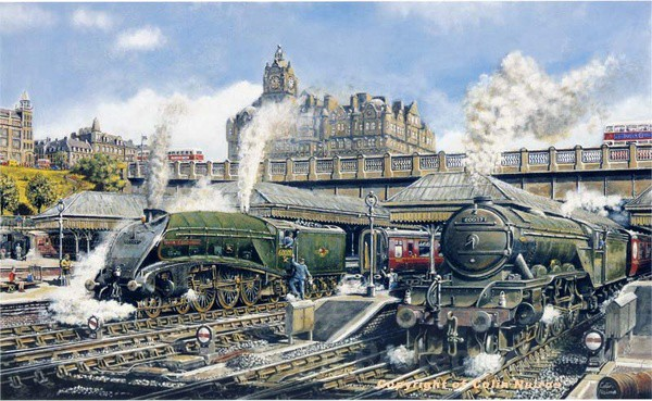 Edinburgh Waverley in the 1960's - Original Work FOR SALE