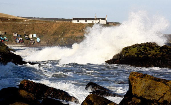 Crashing Wave, Old Portlethen. - Photographs of Old Portlethen.