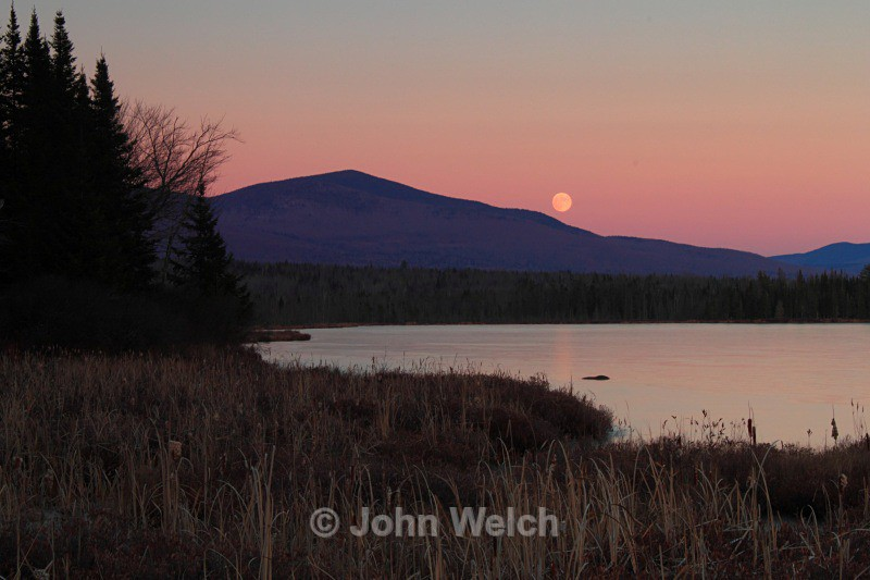 Moonrise in Pondicherry - White Mountain National Forest and Northern New Hampshire
