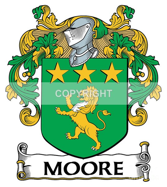 Moore Family - Heritage Family Name and Coat of Arms Store