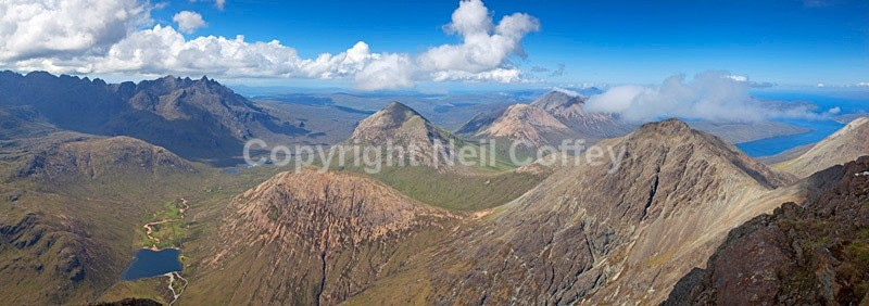 The Cuillin of Skye from Bla Bheinn - Panoramic format