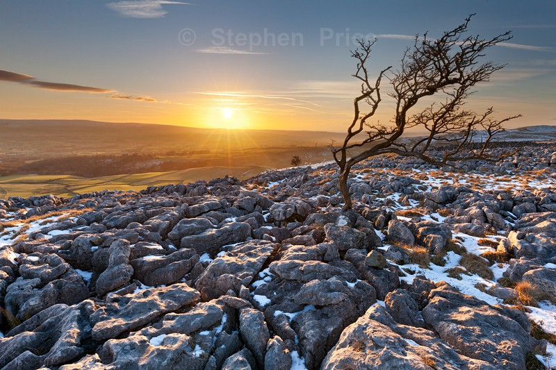 Twistleton Scar End Winter Sunset | Yorkshire Dales Photography