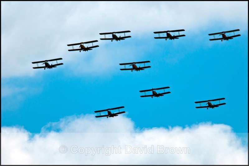 NM Air Pageant - Tiger Moths in Formation - North Moreton Air Pageant