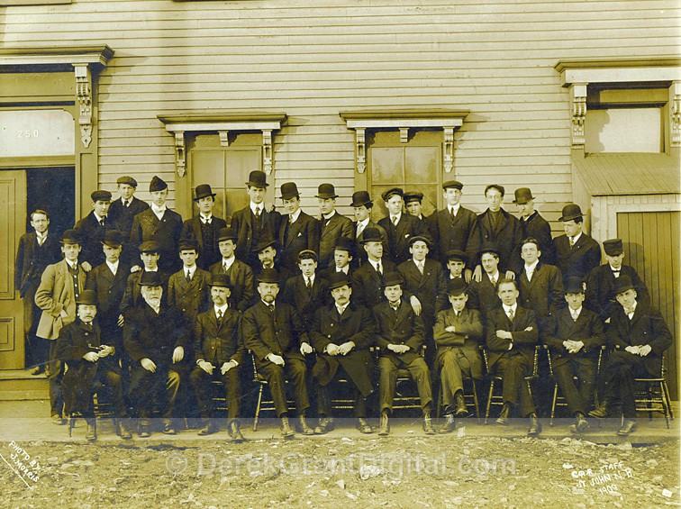 CPR Staff St. John, New Brunswick Canada 1909 J. Morris - Historic New Brunswick