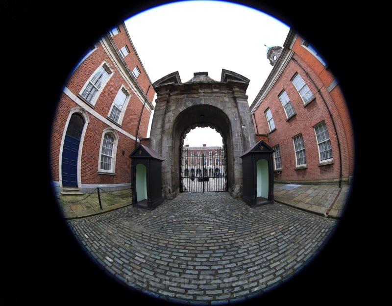 Dublin Castle Gate - Dublin - through a fisheye lens
