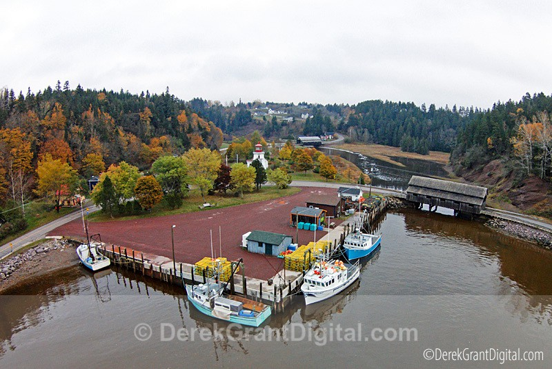 Aerial Panorama - St. Martins New Brunswick Canada - New Brunswick Landscape