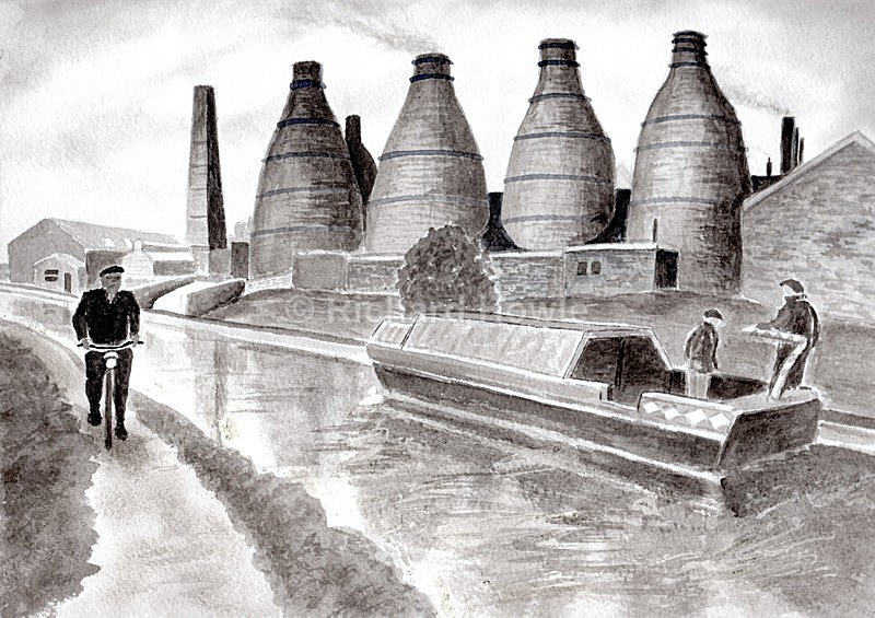 Potteries Canal - Watercolour Paintings