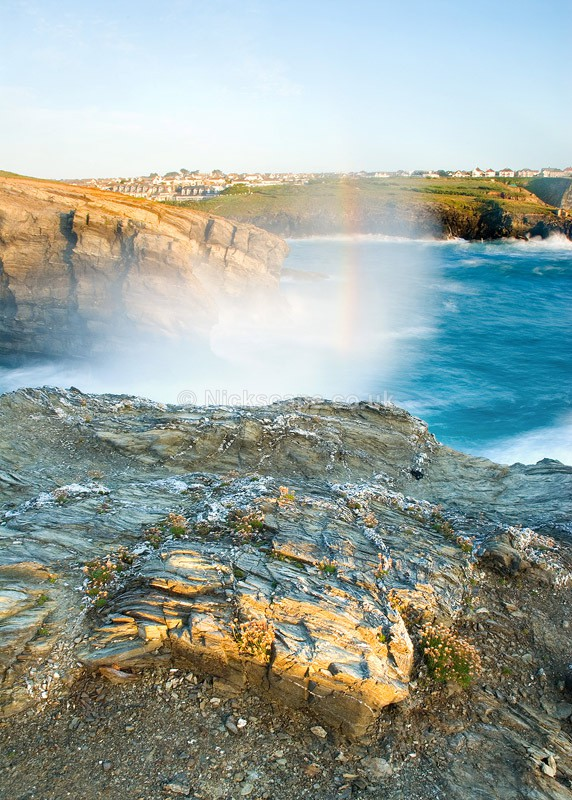 Rainbow at Trevelgue Head | Newquay Coastal Photography by Nick Cockman