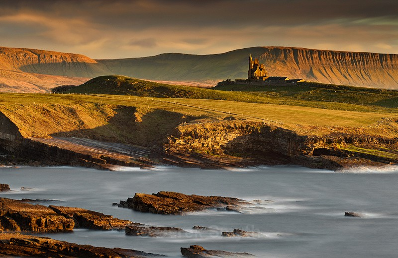 Classiebawn Castle In Evening Light - Mullaghmore County Sligo