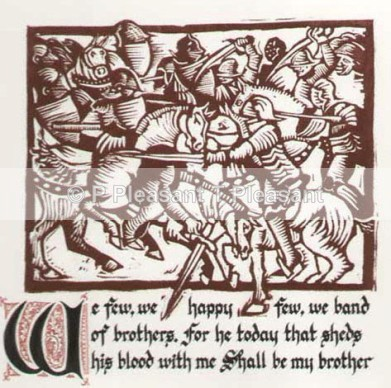 Henry V Series - We Few - Handmade prints - with calligraphy