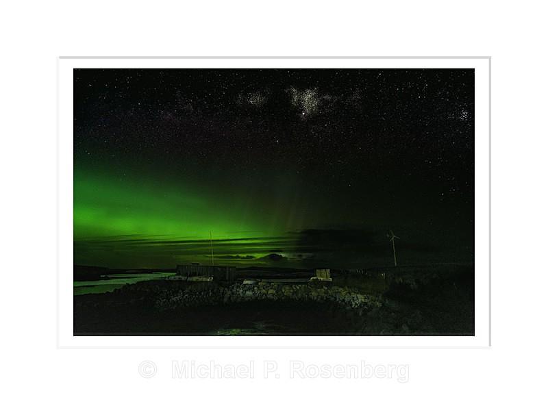 Aurora Borealis and Nebula - Lochmaddy - North Uist Scotland - Scotland, UK