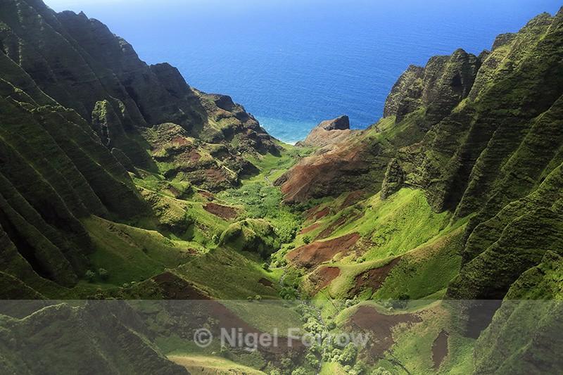 Honopu Valley, Napali Coast, Kauai - Hawaiian Islands, USA