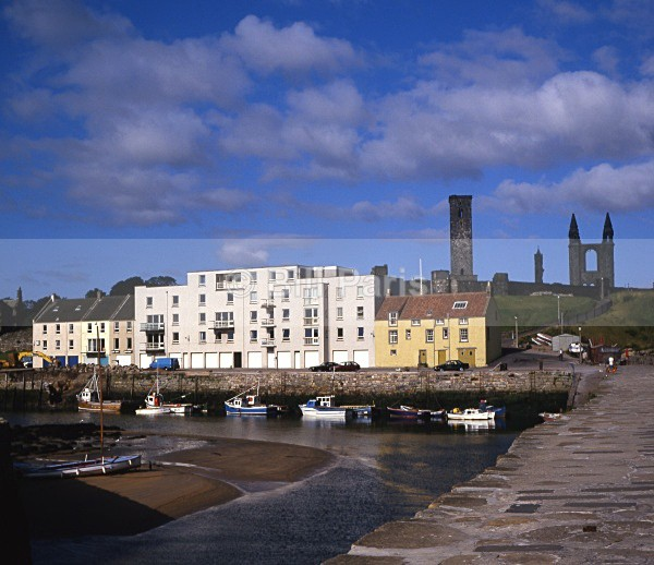 St Andrews Harbour and Cathedr - Land and Sea