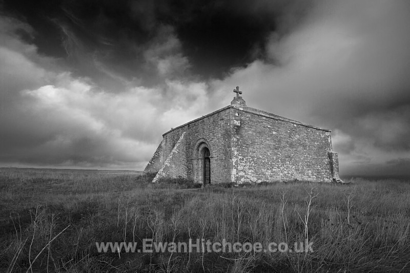 St Aldhelm's Chapel - Black and White