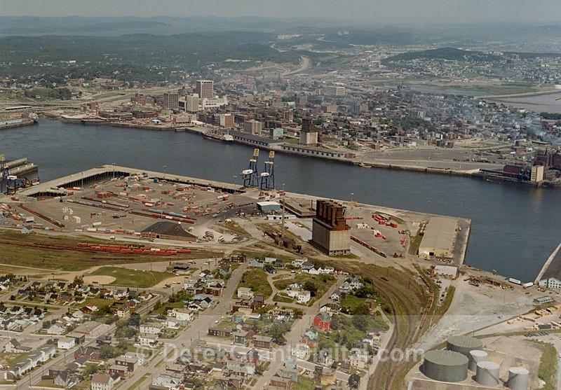 Brunterm - Port of Saint John New Brunswick Aerial -  Circa 1982 - Historic New Brunswick