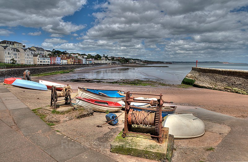 DW18 - Old boat winches at Boat Cove in Dawlish, South Devon - Greetings Cards Dawlish