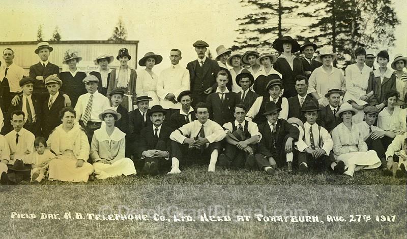 NB Telephone Company Ltd Annual Picnic Day 1917 Torryburn - Historic New Brunswick