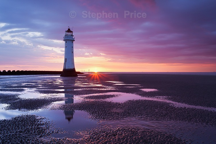 New Brighton Lighthouse Photography Location | Sunset Reflections