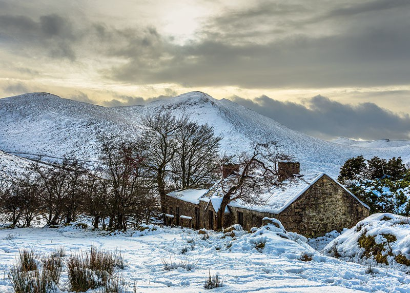 Mountain Cottage In Winter - Co. Down