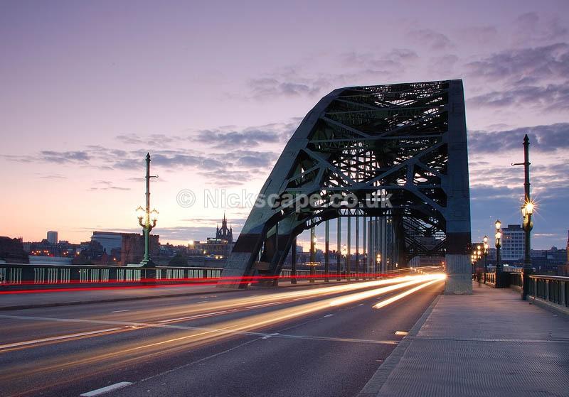 Tyne Bridge Traffic Rush | Architecuture Photography by Nick Cockman
