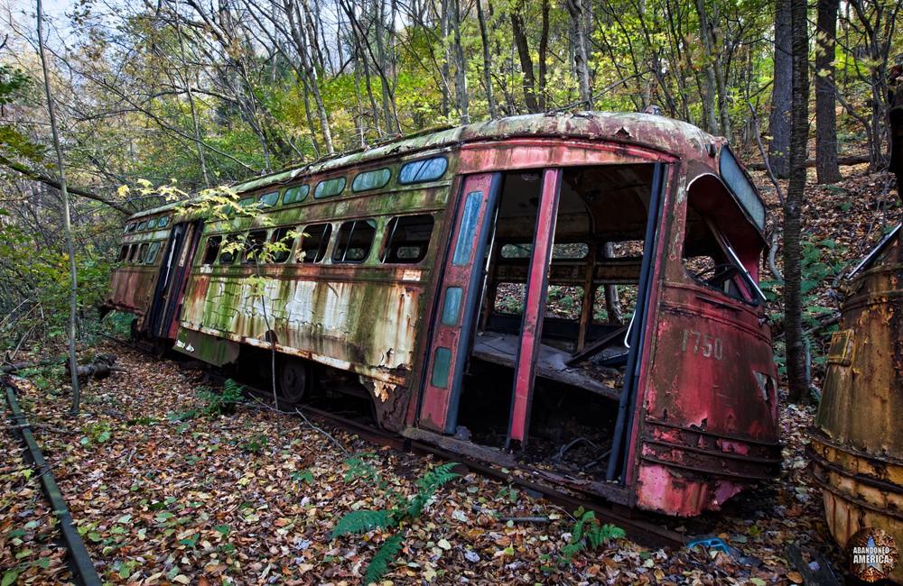 Trolley Graveyard | Slumped - The Trolley Graveyard