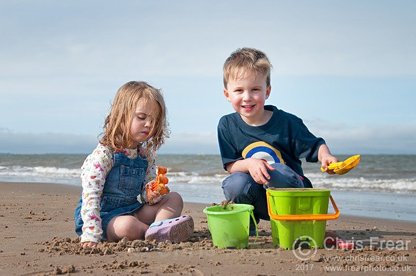 Children playing on the beach. - Recent Images