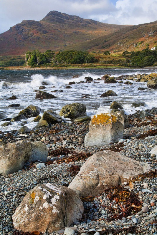 loch spelve waves - Mull and Iona