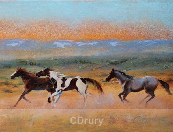 Red Desert Horses- Detail - Colorful Critters