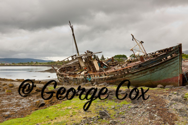 Old Boat at Salen - Landscapes