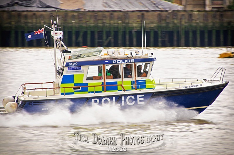 Police Launch on River Thames.  from 'Commercial' Portfolio by Forest of Dean & Wye Valley Photographer Tina Dorner