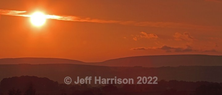 Sunset over Trough of Bowland (image Bow 01) - Latest additions