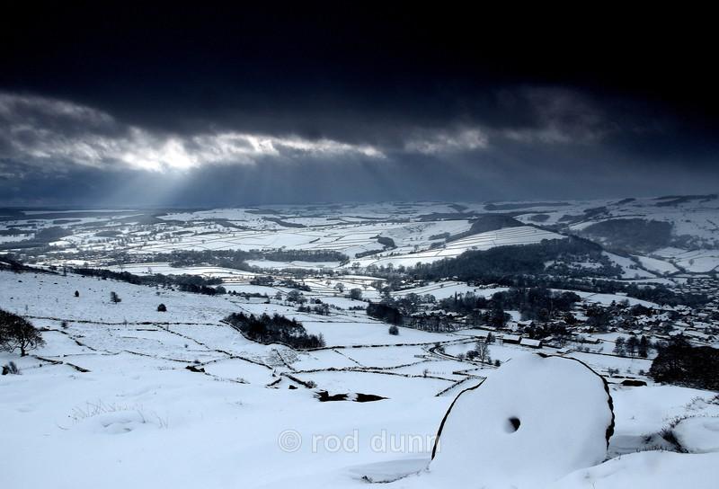 Curbar Edge storm - Peak District