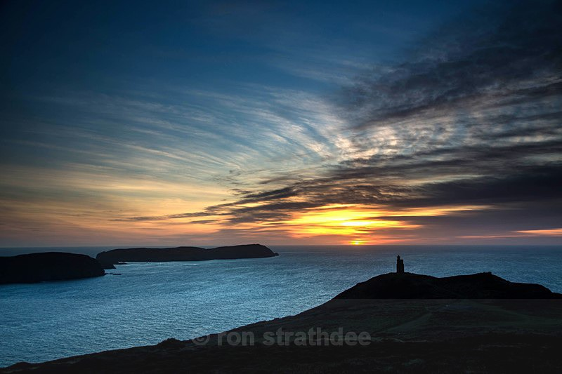 Sunset above Bradda Head - Latest additions