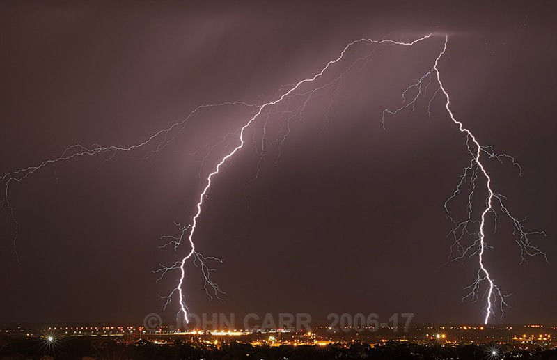 Double hit-1165 - WINTER LIGHTNING STORM PHOTOS 13th June 2012