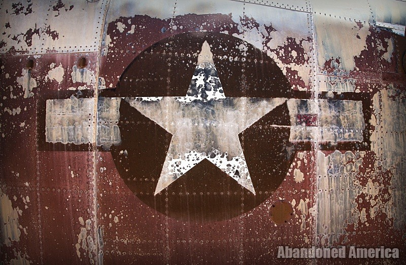 Stars and bars - Aerospace Reclamation and Maintenance Group, Tucson AZ - Matthew Christopher Murray's Abandoned America