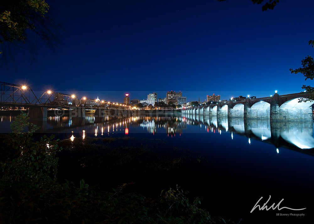 Harrisburg Bridges Blue Hour - Harrisburg Area, Pennsylvania