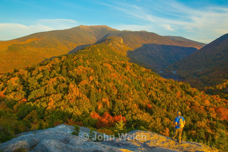 Golden Light on Franconia Ridge - Fall Foliage Season Transitions
