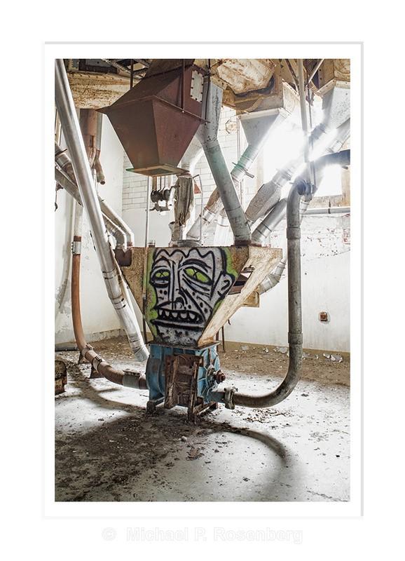 Feed Your Brain (Graffiti), Silo City, Buffalo NY - Architecture