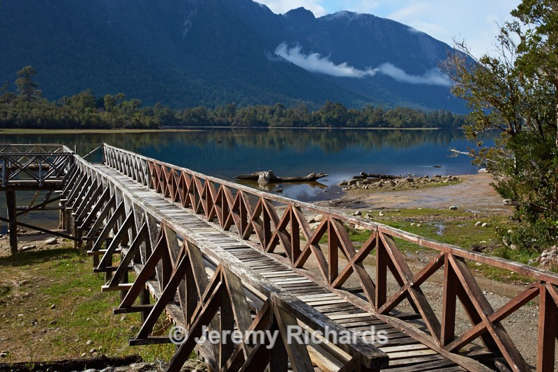 Wooden Jetty on Lake Rosselot - Carretera Austral - North