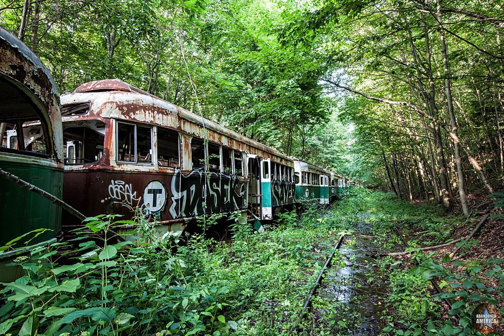 Trolley Graveyard | Railway Stream - The Trolley Graveyard
