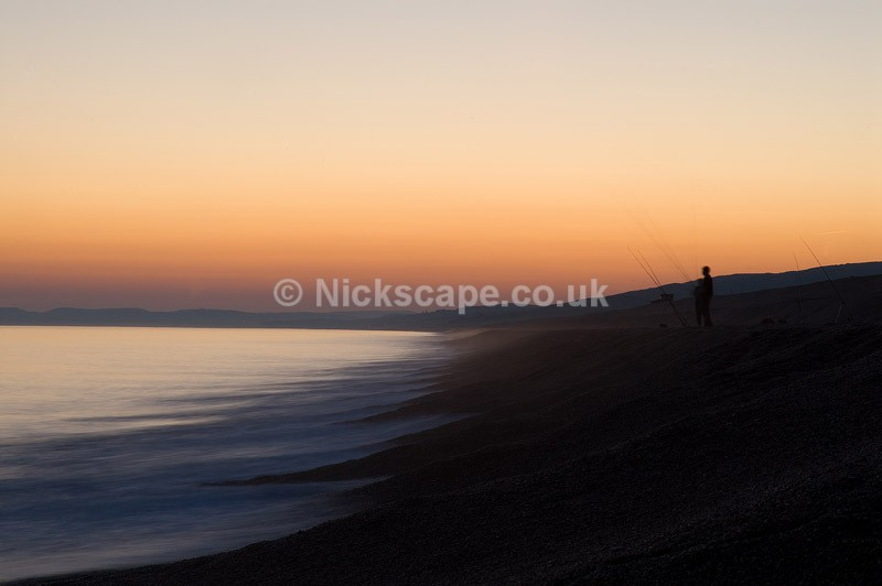 Chesil Beach | Night Fishermen on the pebble beach in Dorset