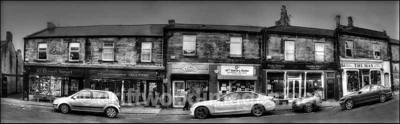 Amble shop panorama bw HDR resized - High Dynamic Range pictures