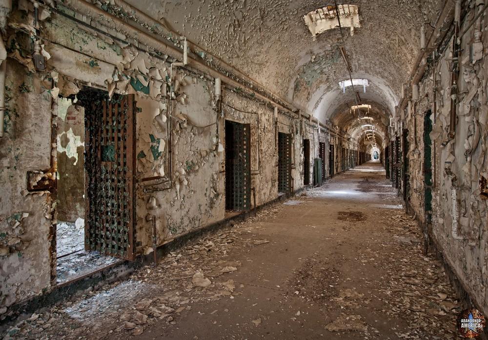 Cellblock hallway, Holmesburg Prison, Philadelphia PA | Abandoned America by Matthew Christopher