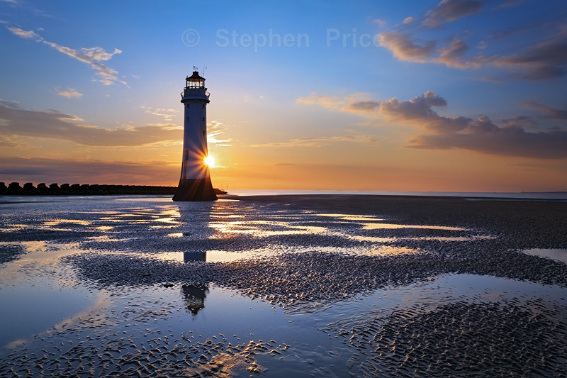New Brighton Lighthouse | Photography at Sunset | Beach Reflections